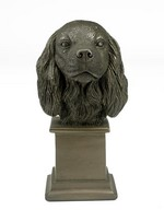 Bronze Cavalier King Charles Dog Bust