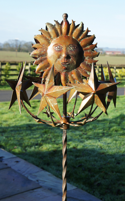Celestial Cosmos Sunflower And Stars Wind Spinner Wind