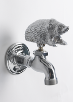 Bright Chrome Hedgehog Garden Tap