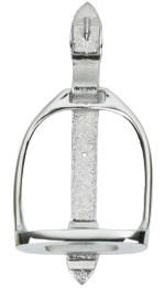 Bright Chrome Stirrup Door Knocker