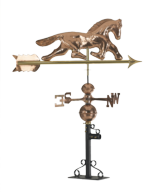 Weathervane - Polished Copper - Horse Motif