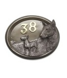 Signs & Plaques Dog Design (Bronze Effect)