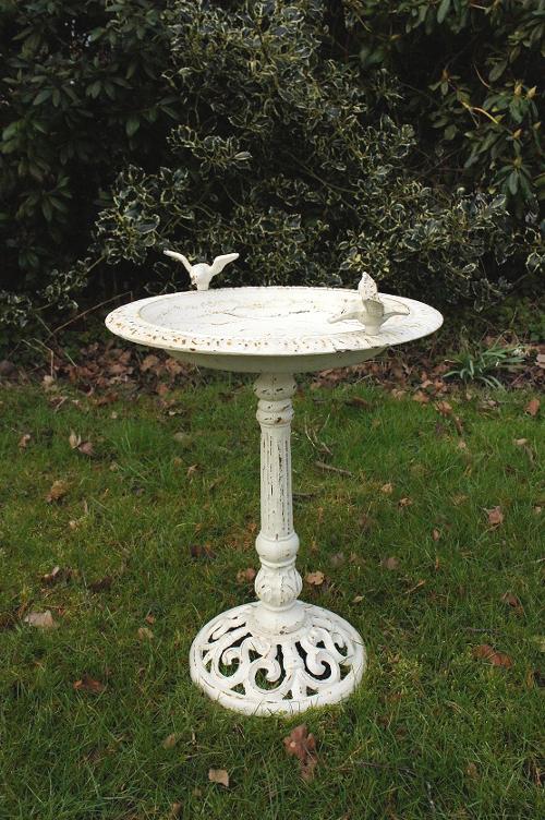 """""""Josette"""" Antique Cast Iron Bird Bath - Bird Baths & Bird ..."""
