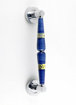�Blue Twirl� Ceramic Pull Handle