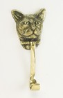 Polished Brass Cat Head Door Knocker