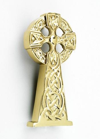 Polished Brass Celtic Cross Knocker Brass Door Knockers