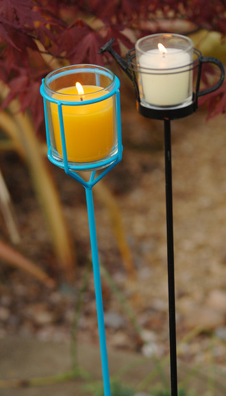 These exquisite outdoor garden candle lanterns and tea lights are available