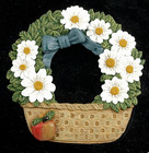 �Hollyrod House� Flower basket cast iron effect house name sign