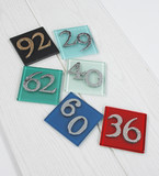 Genuine Glass House Number Signs