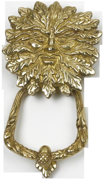 Green man or cernunnos door knocker pagan wiccan cast iron ware blacksmith ironmongery - Green man door knocker ...