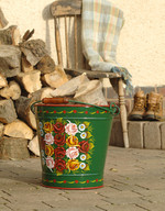 XXL Hand Painted Bucket Planter