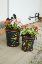 Hand Painted Bucket Planters