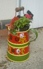 Hand painted Watercan Planter