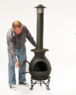 Shinto Chiminea with funnel chimney