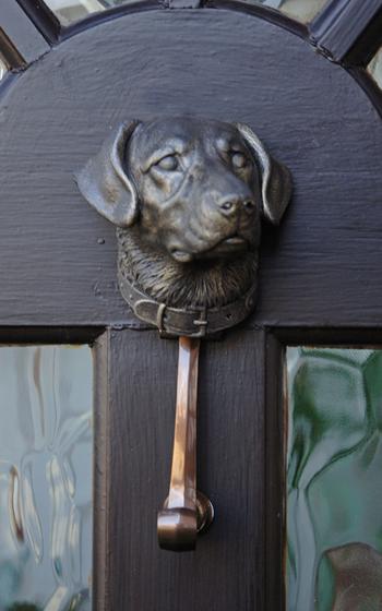 Labrador Dog Door Knocker Black Country Metal Works