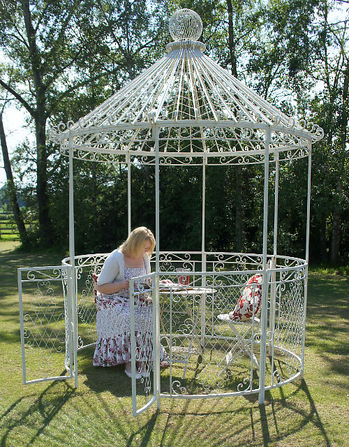 laura s carousel garden gazebo or pavilion black country metal works. Black Bedroom Furniture Sets. Home Design Ideas