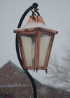 Lincoln Swan Neck Lamp Post & Lantern Set