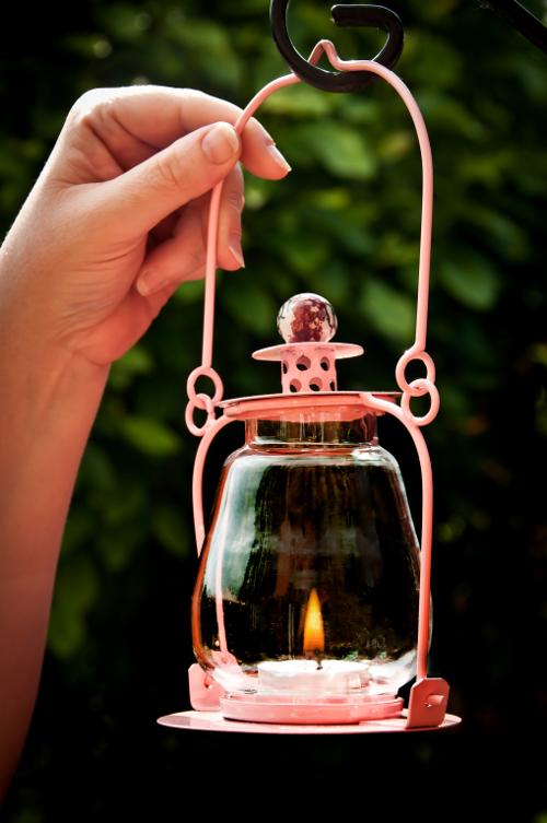 Garden Lantern Pink Soda Candle Lanterns Garden