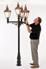 The Victorian Quadruple Lamp Post and Lantern Set