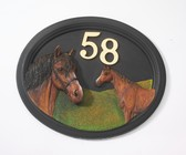 House Sign - Hand Painted - Horse
