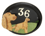 House Number - Hand Painted - Red Setter - House Sign