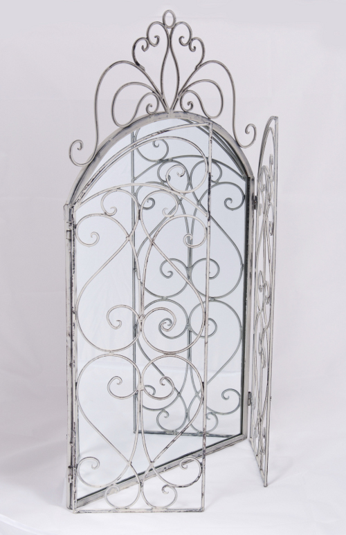 Quot Veronique Quot Vintage Styled Wall Mirror With Scrolled Doors