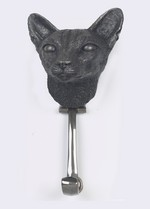 Siamease Chrome Cat Door Knocker