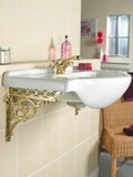 brass serpent sink bracket