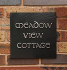 Square Slate �Meadow View� House Name Sign
