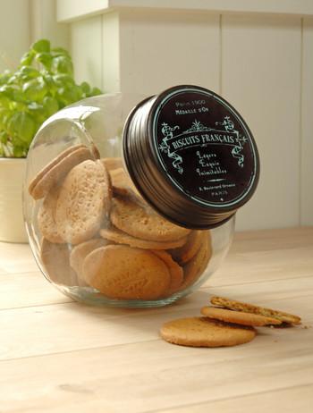 French Style Biscuit Storage Jar Black Country Metal Works