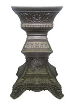 Baroque sundial column in bronze effect