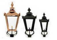 Victorian Triple Headed Lamp Post Set