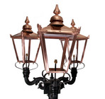 Victorian DELUXE Triple Headed Lamp Post Set