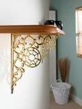 Wall Brackets, Cast Iron, Brass