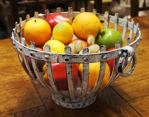 Quot Benboe Castle Quot Wrought Iron Display Bowl Fruit Bowls