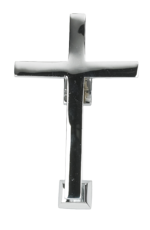 Bright Chrome Cross Door Knocker