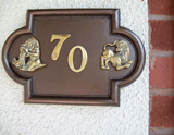 Zodiac House Number Signs