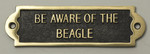 Beagle Beware of the Dog Signs