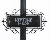 Ornate Wrought Iron Scroll Signs