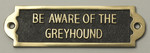 Greyhound Beware of the Dog Signs