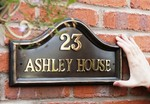 Bronze Effect Plain House Name Sign