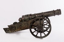 �Imperial Rose� Cast Iron Decorative Cannon