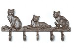 Cast iron Cat Hook rail - Rustic