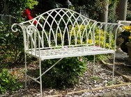 �Cherry Lattice�  Vintage Style Garden Bench
