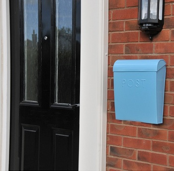 �Baby Blue� Contemporary post box & mail box