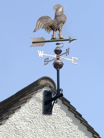 Weathervane Polished Copper Rooster Weathervanes