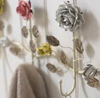 Coloured Roses 5 Hook Coat Rack