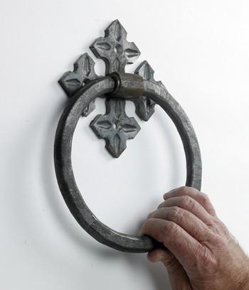 Celtic Treasure Natural Iron Door Knocker Door