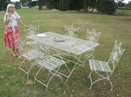 Adrianna Iron Garden Furniture set