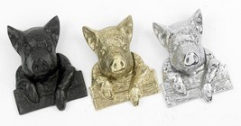 Black Iron Effect Percy Pig Door Knocker